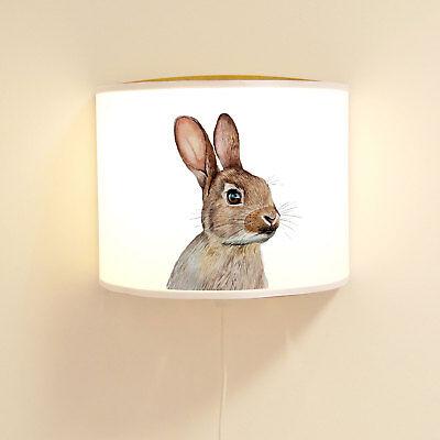 Wandlampe Kinderlampe mit niedlichen Hasen Häschen Lampe Motivlampe ls104