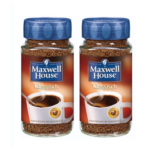 MAXWELL HOUSE Klassisch löslicher Kaffee 2 Gläser 2 x 200g Instantkaffee