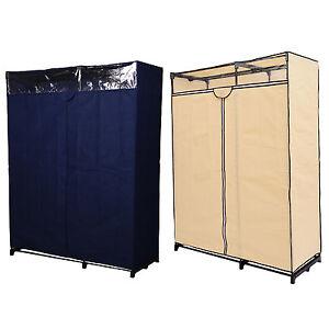 63'' Portable Clothes Closet Wardrobe Garment Organizer Coat Storage Hanger Rack