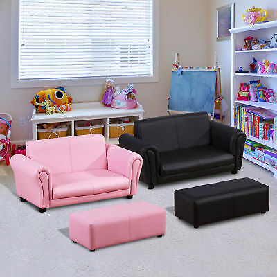 Homcom Kindersessel Kindersofa Sofa Sessel Kinder Softsofa mit Hocker 2 Farben
