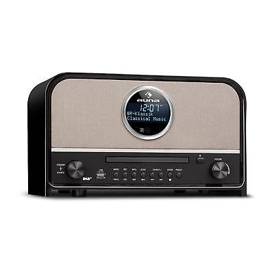 Retro DAB+ Digitalradio Stereoanlage UKW Tuner Bluetooth CD Player USB MP3 Timer