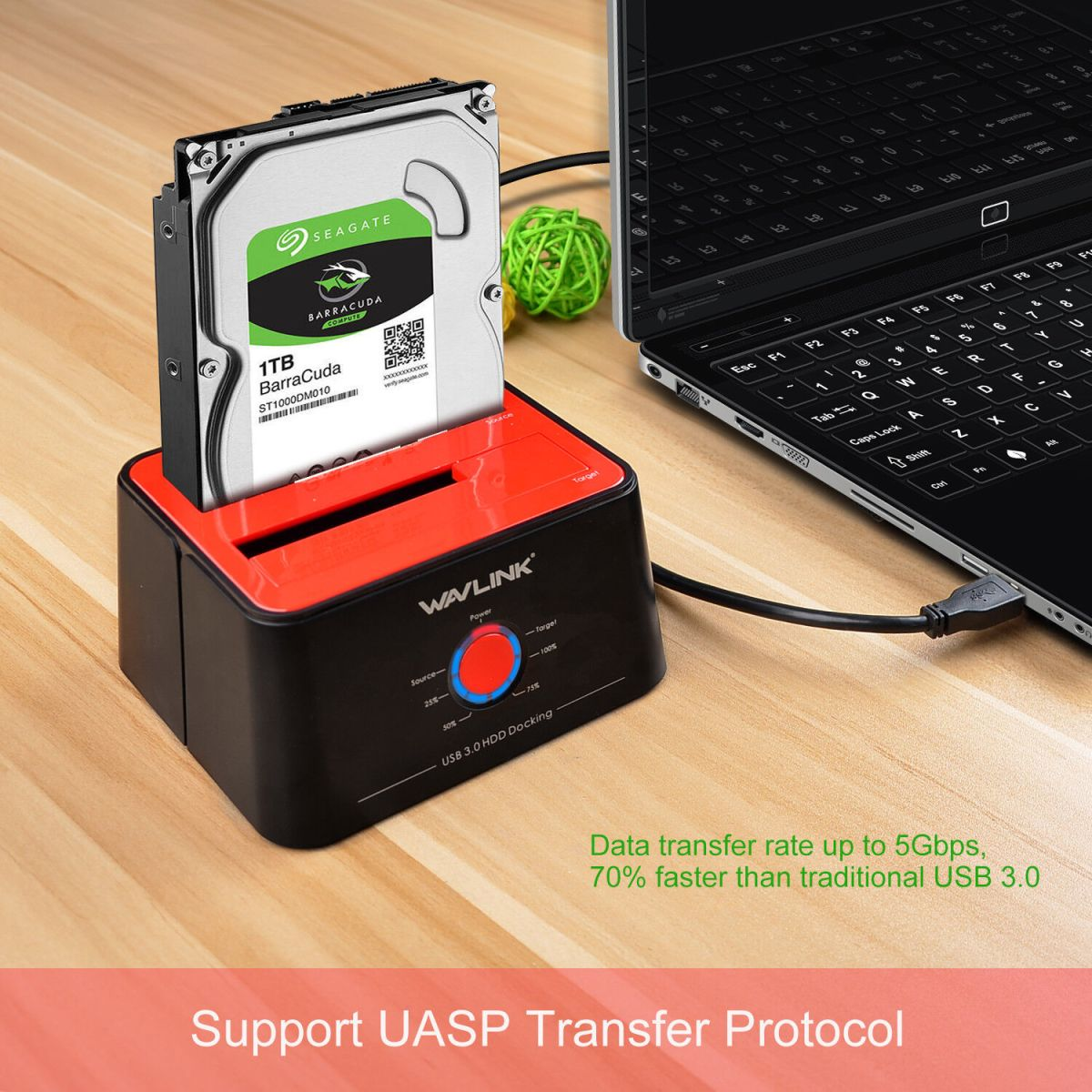 Wavlink External Hard Drive Docking Station,USB 3.0 to SATA&Offline Clone