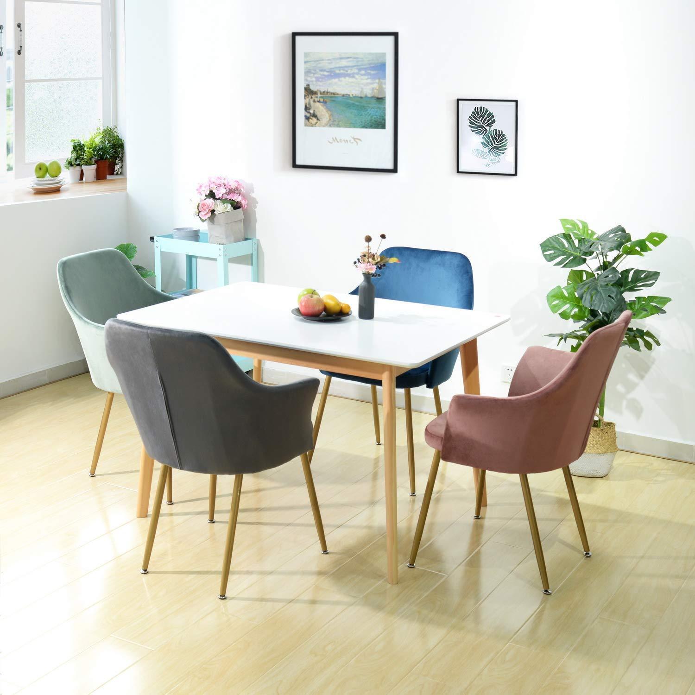 details sur fauteuil en tissu velours retro moderne chaise salle a manger rembourre avec pa
