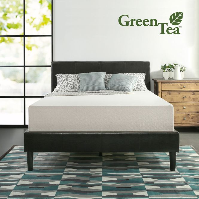 Zinus 12 Inch Memory Foam Green Tea Mattress Queen Size