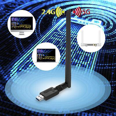1200Mbit/s Dual Band WIFI WLAN Stick Adapter USB IEEE 802.11ac/b/g/n 2,4 & 5 GHz