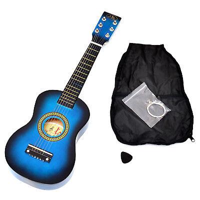 Kindergitarre Spielzeug Gitarre Holz Blau ab 3 Jahre mit Tasche und Saiten NEU