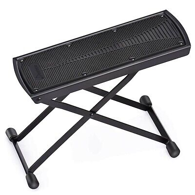 Donner Adjustable Guitar Footstool Guitar Foot Rest Pedal Black