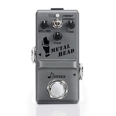 Donner Metal Head Guitar Circuit Effect Pedal Super Mini Metal Distortion Pedal