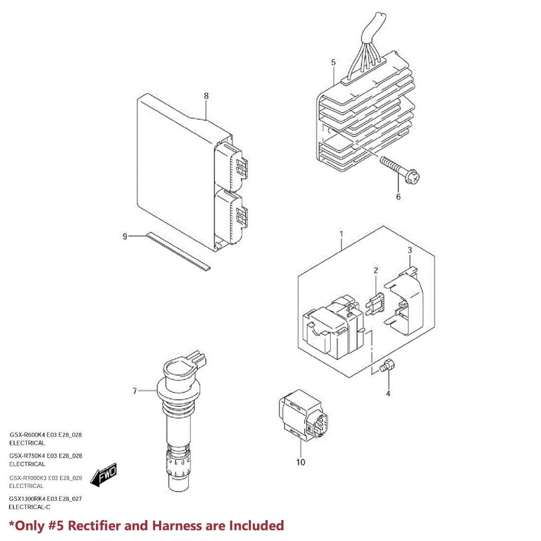 Oe Voltage Regulator Rectifier Assy Gsxr 600 750 Gsx