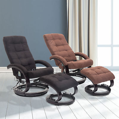 Massagesessel Inkl. Hocker Fernsehsessel Relaxsessel mit Wärmefunktion 2 Farben