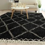 Details About Rugs Area Rugs Carpets 8x10 Floor Modern Large Black White Living Room Rugs