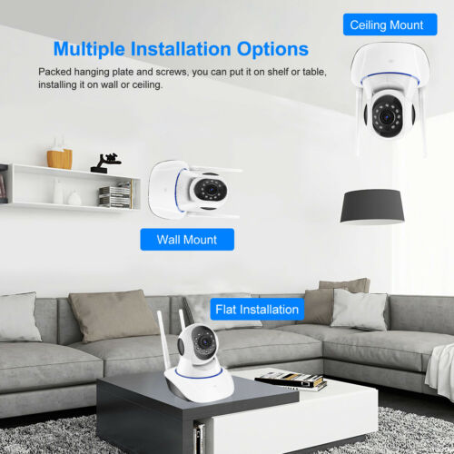 1080P HD Wireless IP Security Camera Indoor CCTV Home Smart Wifi Baby Monitor 8