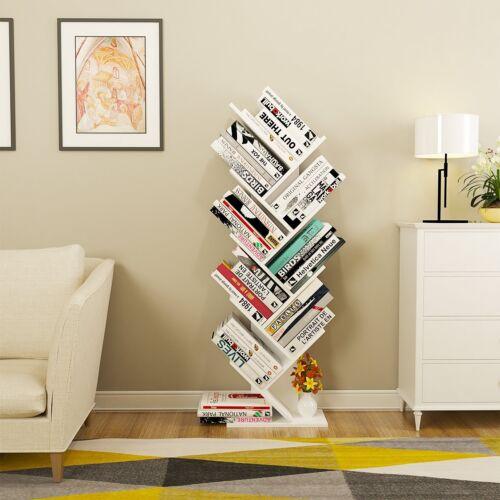 Baum-Form Bücherregal Raumteiler Standregal Büroregal CD DVD Holzregal Dekoregal