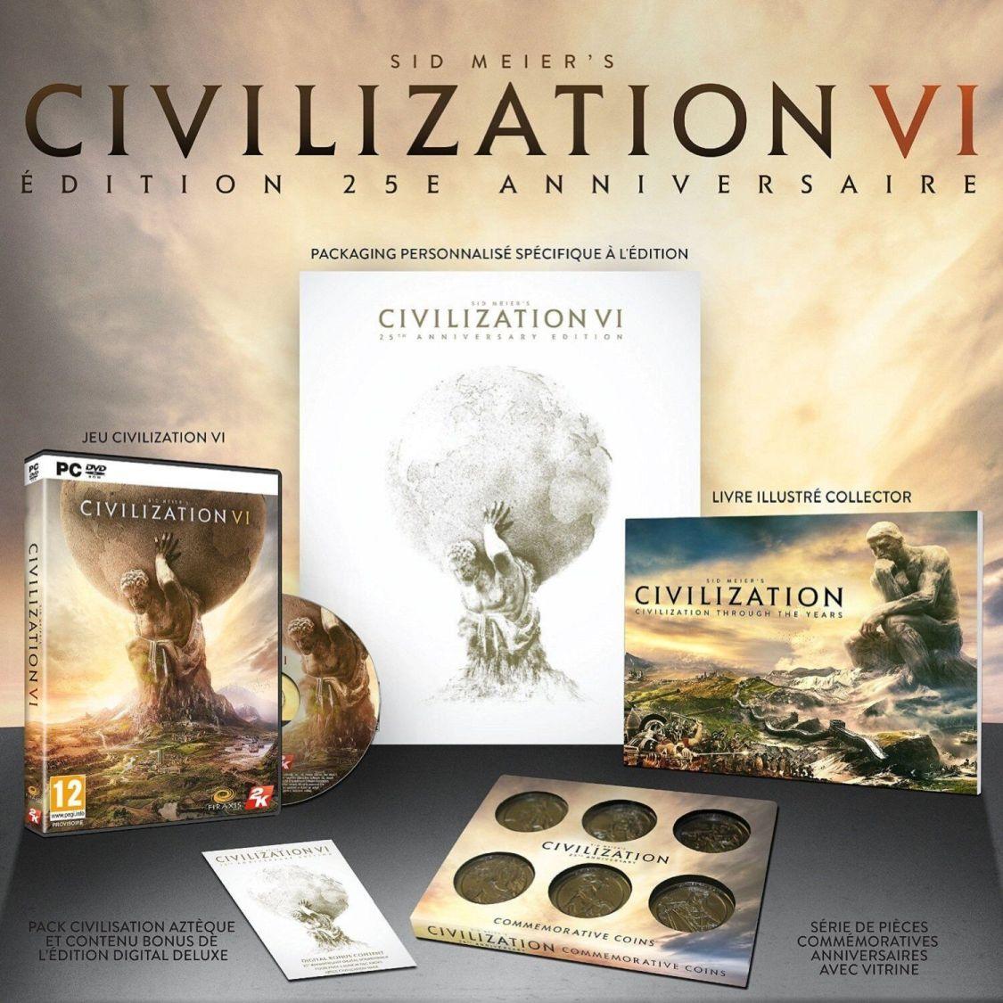 Sid Meier's Civilization 6 VI 25th Anniversary Edition für PC, NEU & OVP