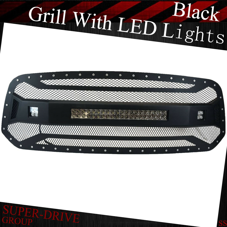 Led Light Bar Behind Grill Silverado