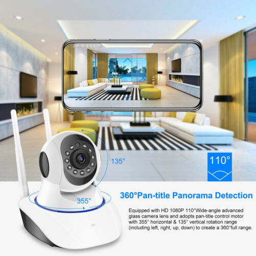 1080P HD Wireless IP Security Camera Indoor CCTV Home Smart Wifi Baby Monitor 5