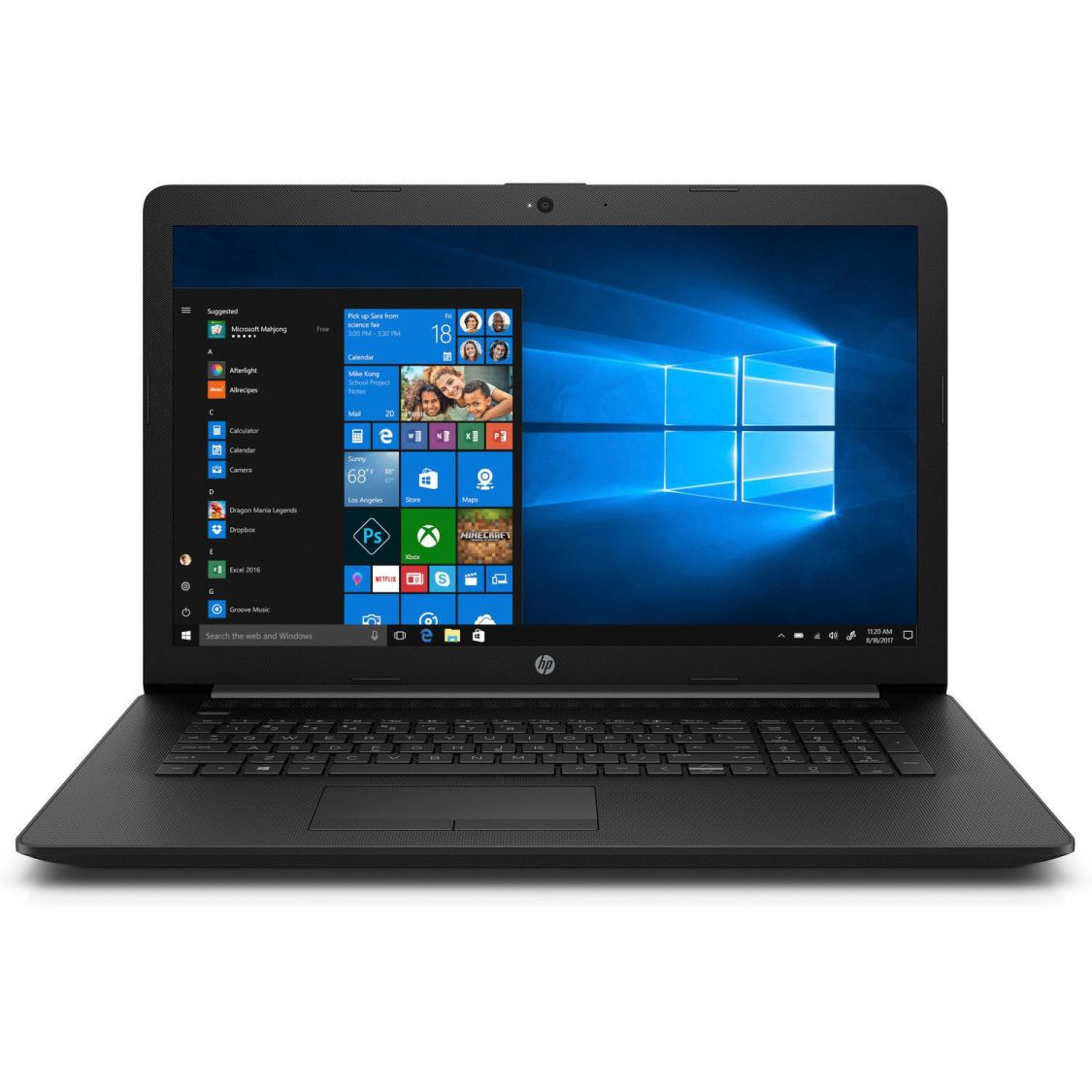 HP Notebook 17 Zoll 4 Compute Core 2 GHz 4GB 1TB Radeon R2 Win10 / Office 2018