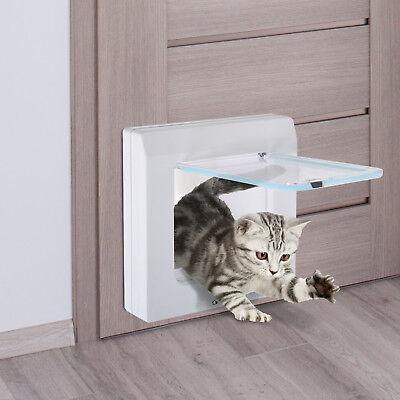 Katzenklappe Katzentür 4 Wege Tunnel Hundeklappe Hundetür Haustierklapp Weiß