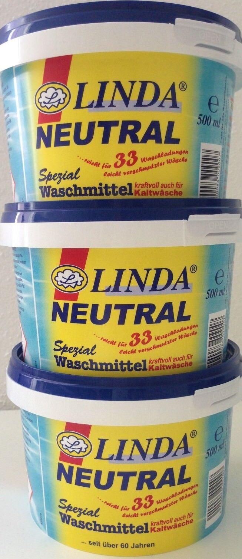 LINDA Neutral Spezial Waschmittel  Feinwaschkonzentrat 3x 500ml