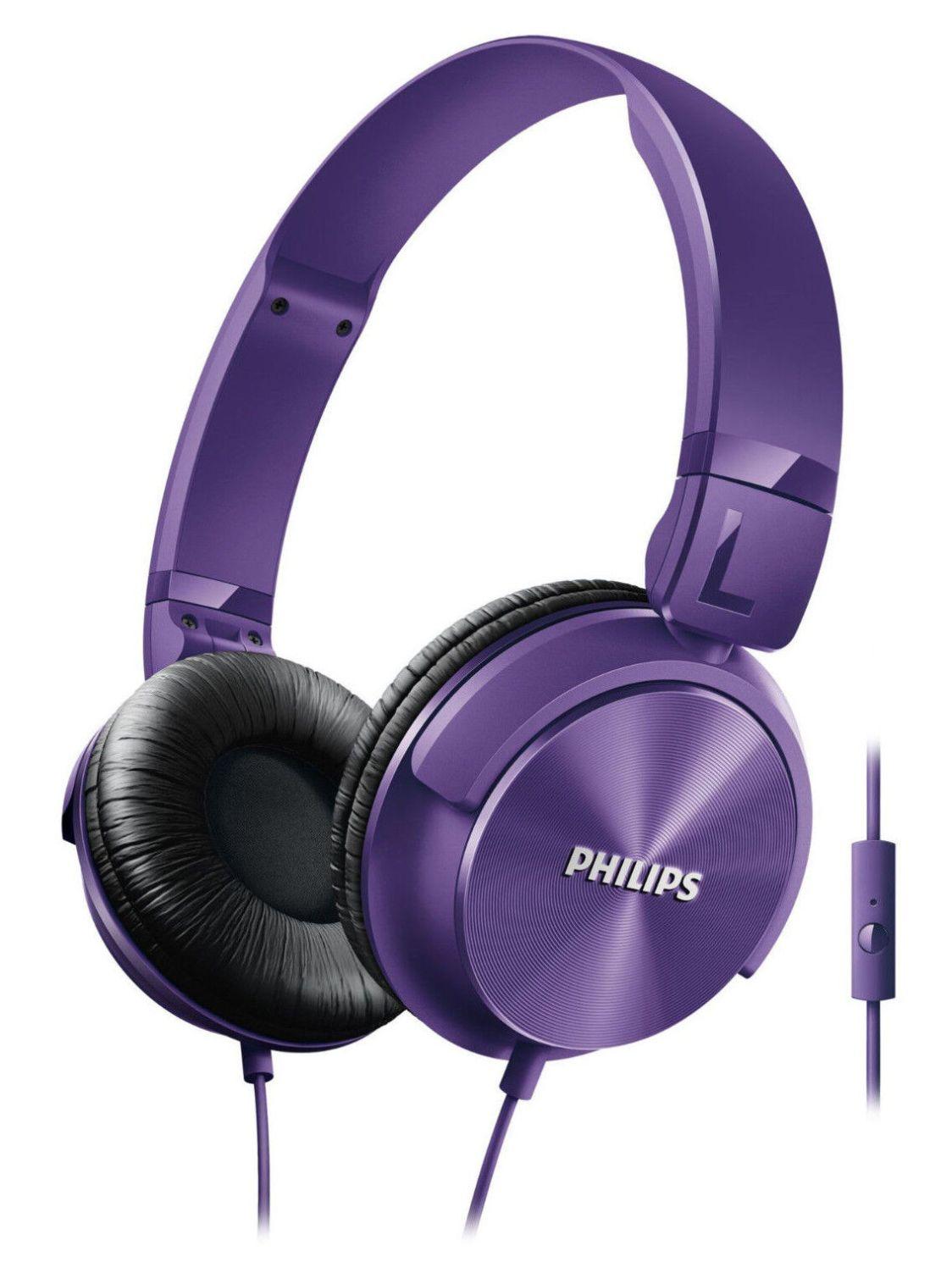 PHILIPS Over-Ear Kopfhörer Lila SHL3065  On-Ear Bügelkopfhörer