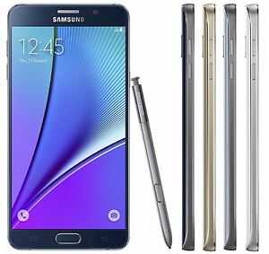 "Samsung Galaxy Note 5 SM-N920i (FACTORY UNLOCKED) 5.7"" - Black/White/Silver/Gold"