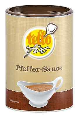 tellofix Pfeffer-Sauce 168 g (1,4 l) helle Bratensoße mit Pfefferkörnern