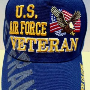 U.S. AIR FORCE VETERAN Cap/Hat w/ Eagle Flag Shadow Military100% FREE SHIPPING