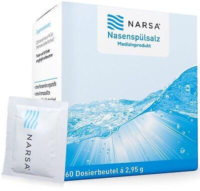 NARSA Nasenspülsalz 60stk Nasenspülung / Nasensalz bei Erkältung für die Nase