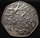 1994 50P COIN RARE D-DAY LANDINGS LARGE TYPE FIFTY PENCE BATTLE OF BRITAIN