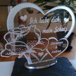 Ich Liebe Dich Mein Schatz Valentinstag Geburtstag Herz Liebe Geschenk Ebay