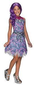 Girls Monster High Spectra Vondergeist Costume Pink Purple Kids Child S M L NEW