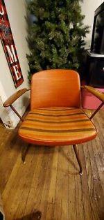 Vintage Viko Baumritter Midcentury Swivel Chair