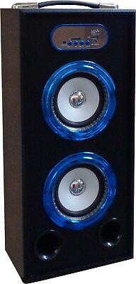 MOBILE BLUETOOTH SOUNDBOX - BLAU - LAUTSPRECHER -RADIO FM-AUX-USB-SD-MP3- BOX15