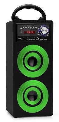 Mobil Bluetooth Lautsprecher USB SD AUX MP3 Player Radio Box Sound System grün