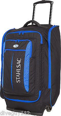 Stahlsac Caicos Cargo Pack Wheeled Scuba Diving Roller Travel Gear Bag Blue