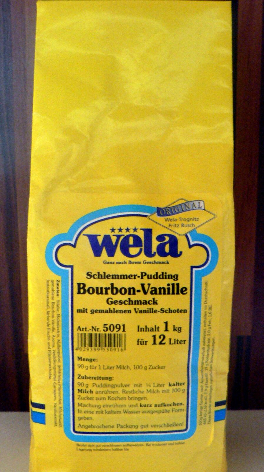 Wela-Schlemmer-Pudding Bourbon-Vanille Geschmack 1kg