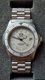 Tag Heuer 2000 Series Professional Gray Dial Stainless Steel Mens Watch 972.006