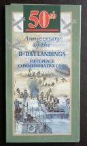 1994 50p Pence D-Day Landings  Brilliant Uncirculated Coin Presentation Pack BU