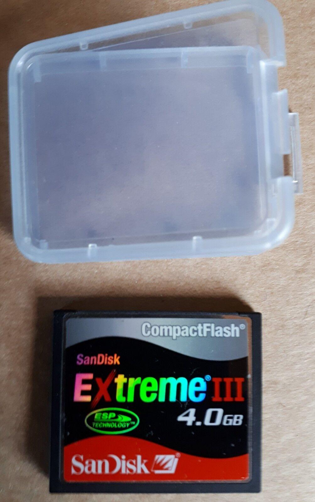 SanDisk Extreme III CF CompactFlash 4.0GB Speicherkarte -gebraucht-