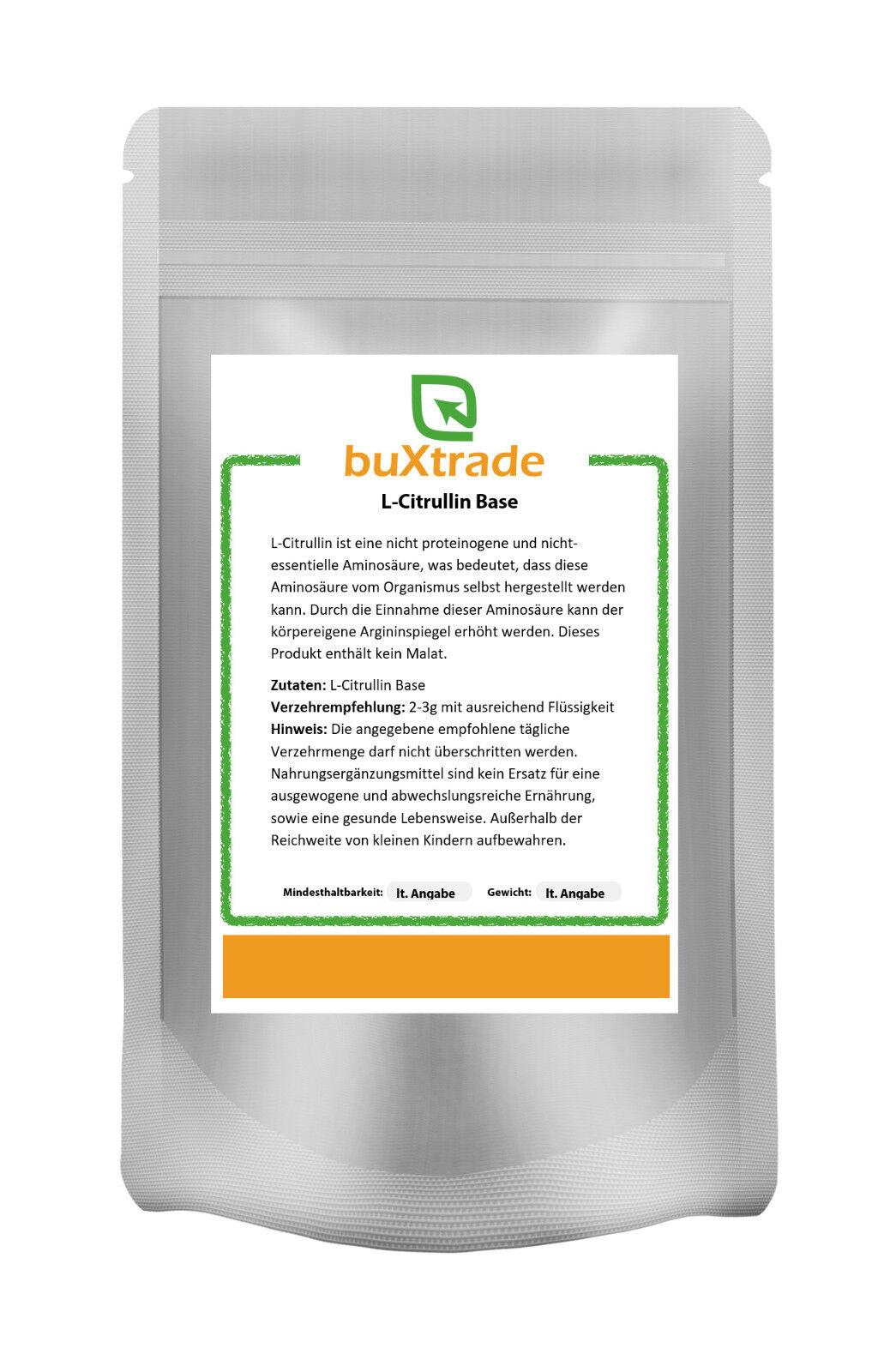 500 g L-Citrullin Base - rein | Aminosäure | kein Malat