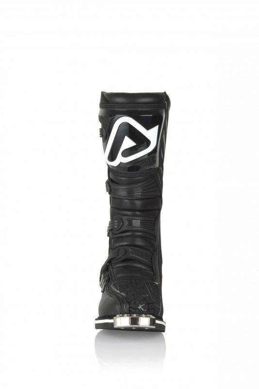 stivali motocross enduro Acerbis E-Team colore nero puntale in acciaio Quad ATV 3