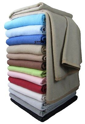 Wohndecke Baumwolldecke Decke 150 x 205cm 100% Baumwolle Kuscheldecke Beige