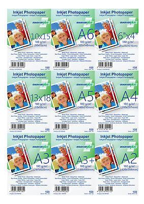 Fotopapier 180g/qm glänzend Größe und Format nach Wahl von EtikettenPlus