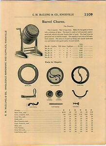 1904 Ad The Favorite Wood Barrel Butter Churn Parts Repair ...