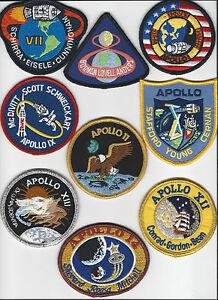 Apollo Mission Patch Emblems Apollo 1 7 8 9 10 11 12 13 14 15 16 17 NASA Made US eBay
