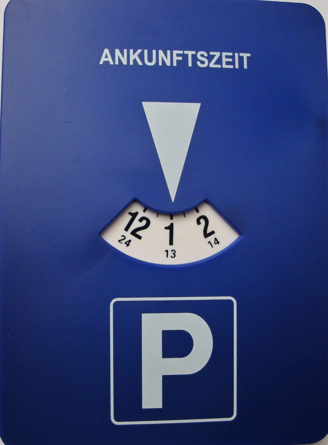EAXUS   Elektronische mitlaufende Parkscheibe Parkuhr mit Uhrwerk  NEU+OVP