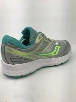SAUCONY Women's Cohesion 12 Running Shoes Grey/Slime/Blue USA Size 8.5.      B12