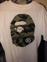A Bathing Ape Bape Camo Big Ape Head Tee T-Shirt Size M 100%Authentic
