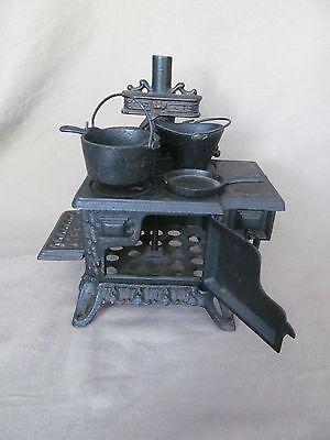 Vintage Miniature Queen Black Cast Iron Pot Belly Stove