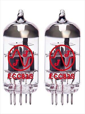 2x ECC83S JJ-Electronic PAIR DUET valvola tubes MATCHED 12AX7 ECC83 2pcs 2 pcs